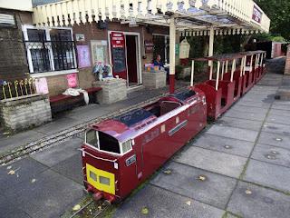Dragon Miniature Railway at Marple Garden Centre