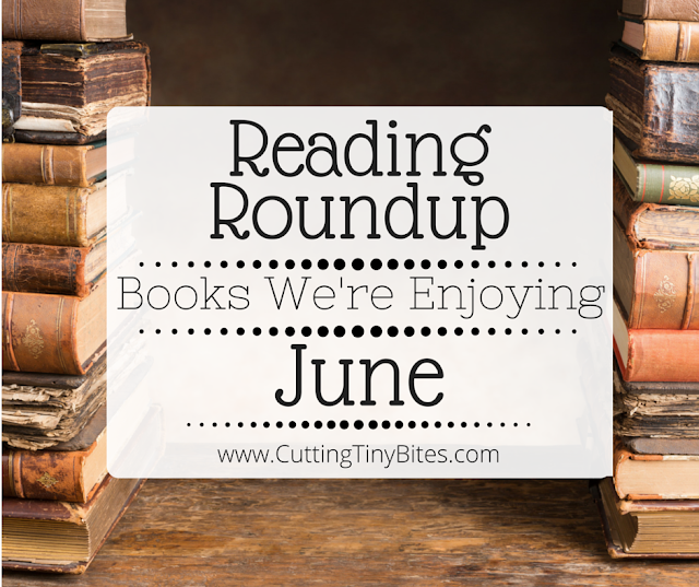 Reading Roundup- Books that we're enjoying in June. Favorite reads from the Cutting Tiny Bites fam.