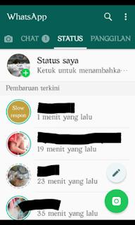 Layar status whatsapp