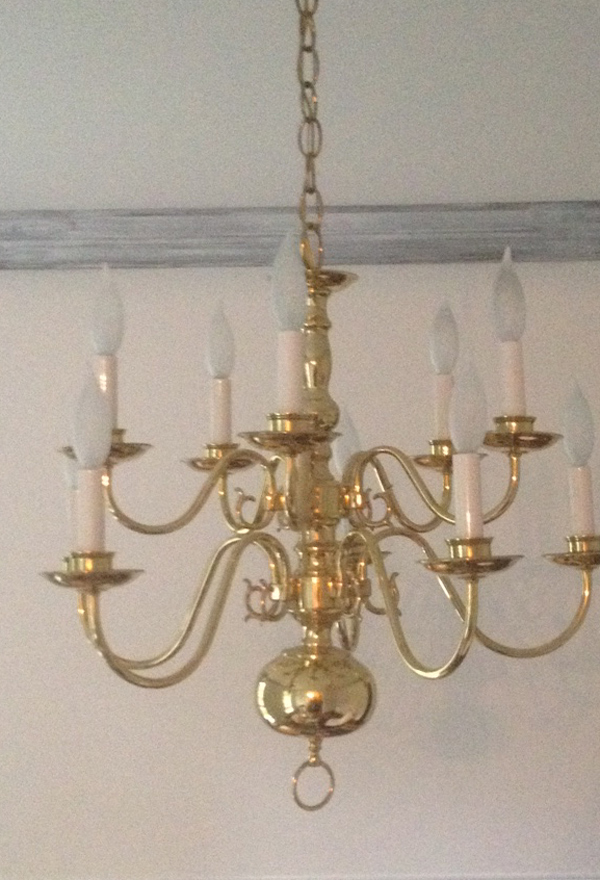 Making Over A Chandelier With Chalk Paint