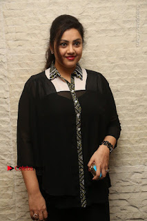 Tamil Actress Meena Latest Stills in Black Dress at TSR TV9 Awards Press Meet  0028.JPG