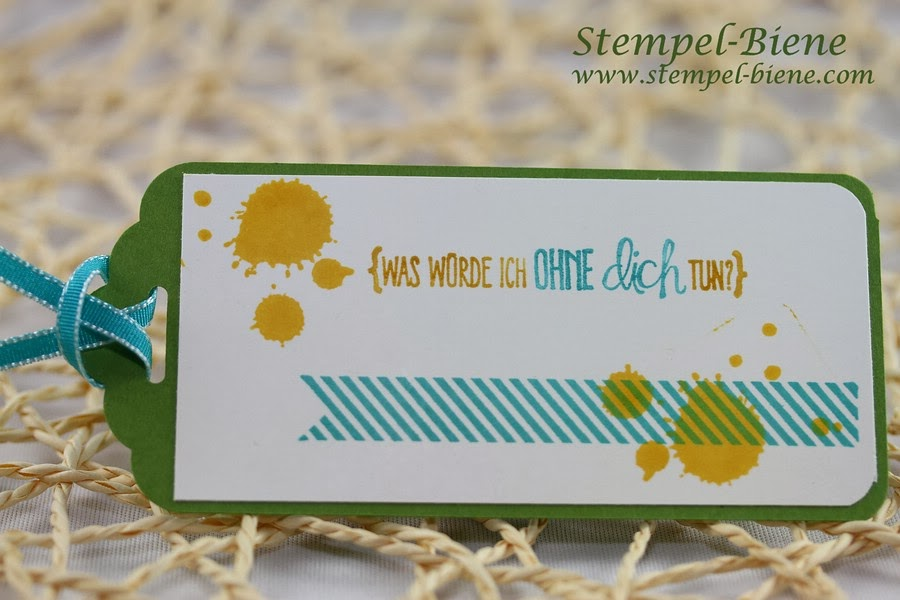Lesezeichen, Stanze gewellter Anhänger, Stampin Up alles nur Sprüche, Bermudablau, Gorgeous Grunge, stampin up, Stempel-biene Recklinghausen, Stampin up demonstrator;