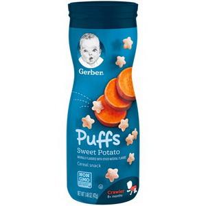 Bánh Snack Cho Bé Ăn Dặm Gerber Puffs Của Mỹ Vị Khoai Lang Bổ Dưỡng