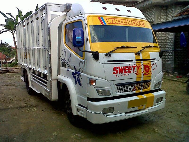 Foto gambar full variasi truk canter keren modifikasi truk ...