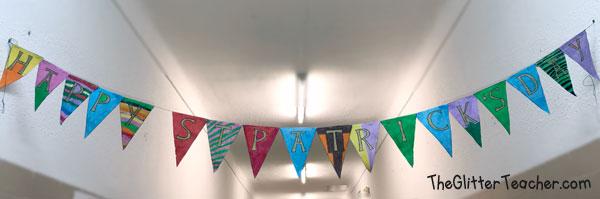 Banderines del día de San Patricio para colorear