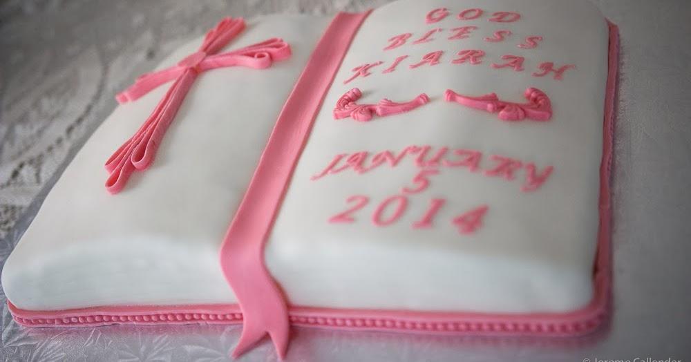 Crafting Baker Baptism Bible Cake
