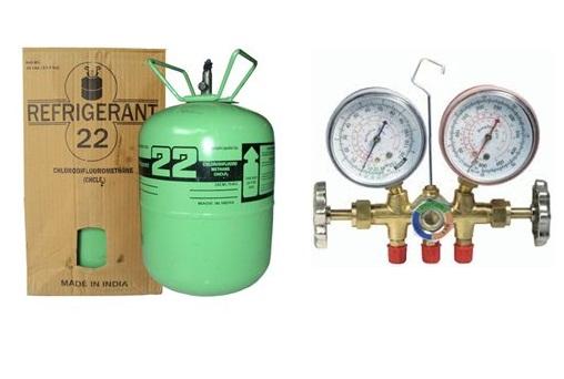 Áp suất nạp gas, dòng điện và khối lượng gas nạp mới - Các loại gas lạnh R22, R410A, R404A ...
