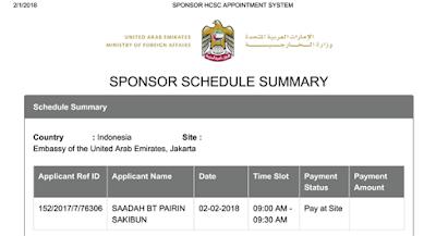 harus menyiapkan schedule atau jadwal permohonan visa