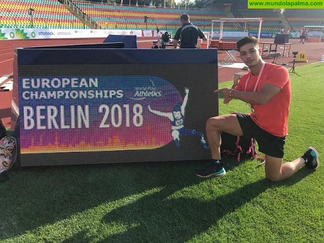 El atleta palmero Carlos Pérez consigue una medalla de bronce en el europeo de Berlín