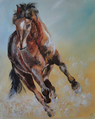 Tennessee walking horse, oil painting of horse