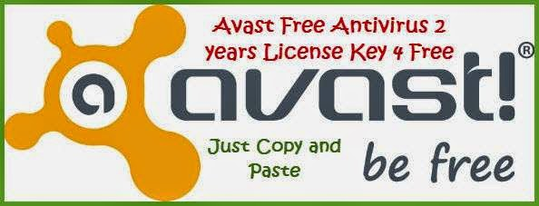 Avast Free Antivirus 2014 License Key | 1year 4 Free Download