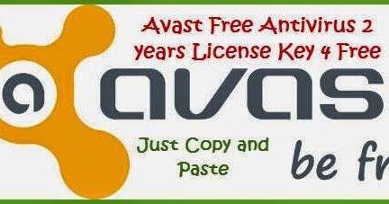 Avast Free Antivirus 2016 License Key, Serial | 1year 4 ...