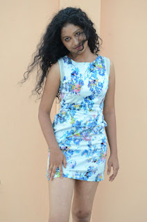 Actress Priyankha Stills in Floral Short Dress at Golmal Gullu Movie Pressmeet 0219.JPG