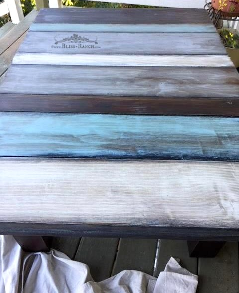 Coastal Color Coffee Table, Bliss-Ranch
