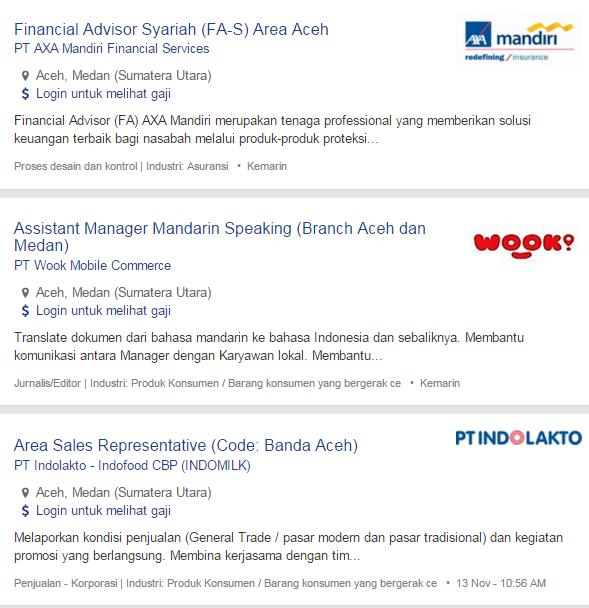 Bulan Ini – Lowongan Kerja Aceh Tamiang Terbaru 2019