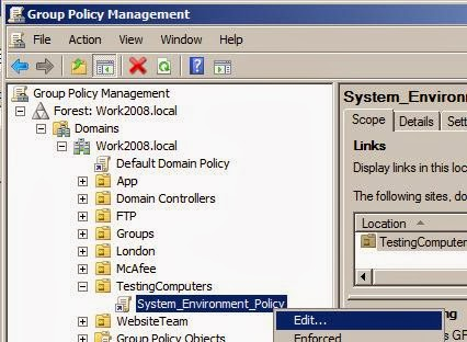 Add Environment Variable via Group Policy