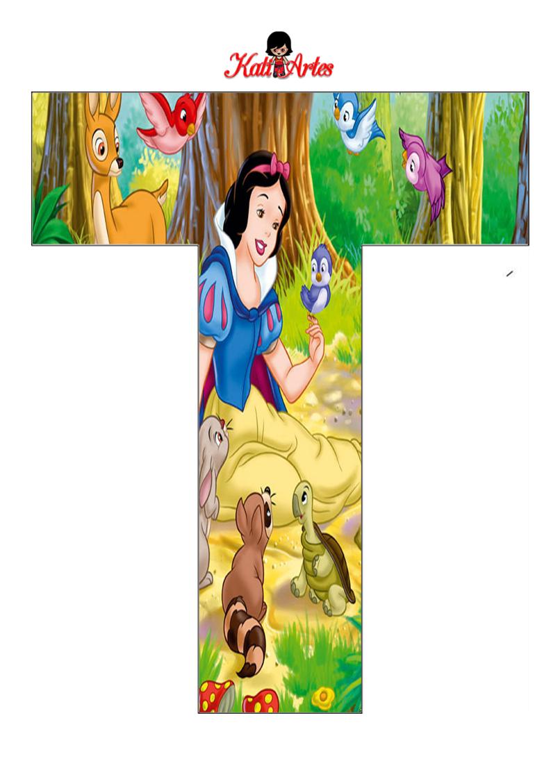 Alfabeto de Blancanieves con Animales. - Oh my Alfabetos!