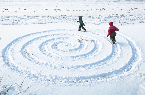 játék a hóban