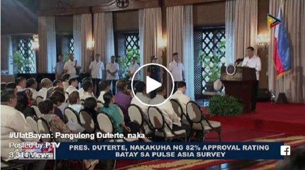 JUST IN | PRES. DUTERTE, MAS LALO PANG TUMAAS ANG RATINGS SA PULSE ASIA SURVEY