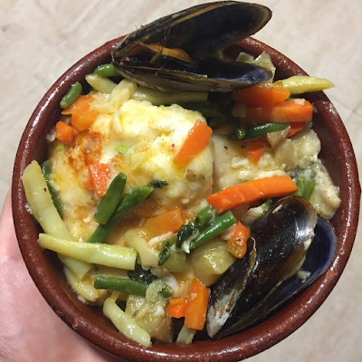 Spicy Hake with veggies / Merluza picante con verduritas