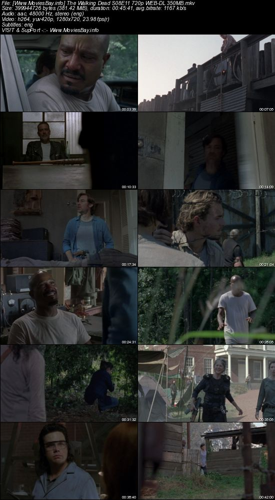 Screen Shoot of The Walking Dead S08E11 720p WEB-DL 350MB