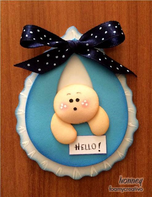 Recuerdo babyshower o nacimiento bebes en foami