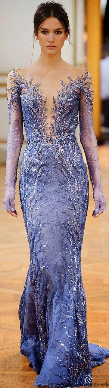 pretty violet blue Zuhair Murad gown, F/W 2013