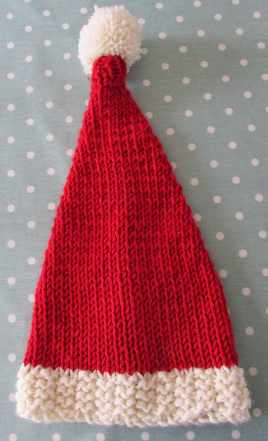 Knitted Santa Hat