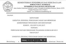 Daftar Sekolah pelaksana Kurikulum 2013 untuk Tahun 2017/2018