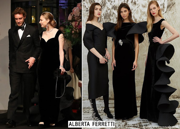 Beatrice Borromeo wore Alberta Ferretti Spiral dress from Limited Edition Spring 2017 Couture Collection