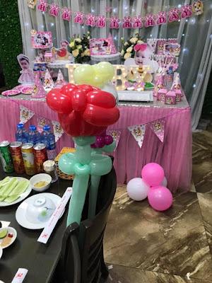 trang trí không gian bàn tiệc sinh nhật