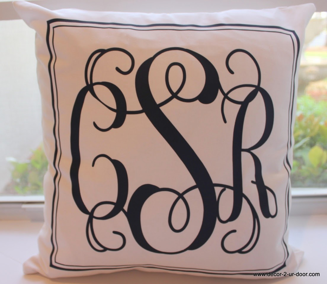 Monogram Pillow Giveaway