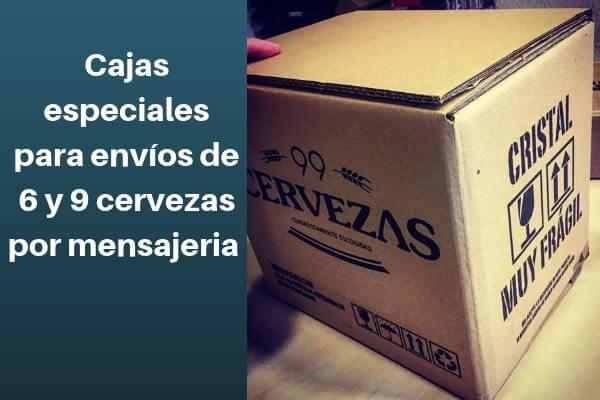 cajas especiales para envios de 6 y 9 cervezas por paqueteria