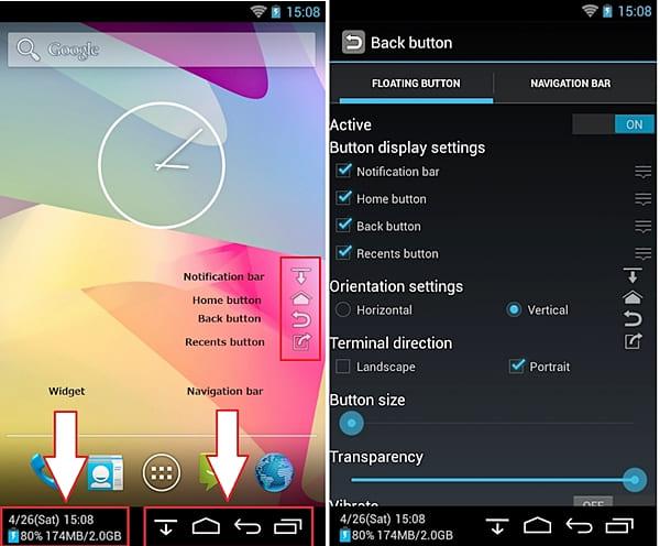 """Botão """"voltar"""" para Android – Back Button (sem root)"""