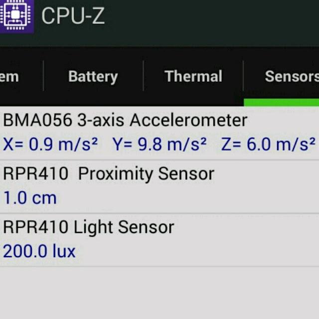 Sensor Accelerometer untuk mendeteksi percepatan gravitasi