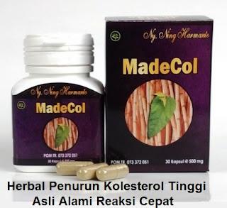 Obat alami penurun kolesterol MADECOL asli herbal tradisional