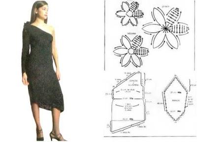 Vestido ganchillo seduccion asimetrica