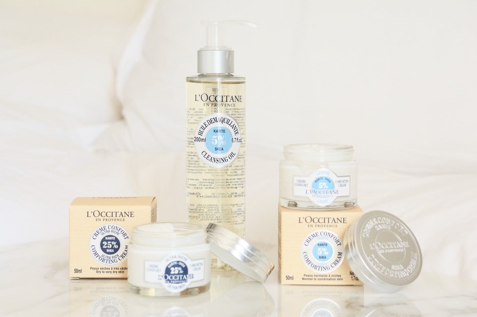 L'Occitane Shea Cleansing Oil Light Ultra Rich Comfort Cream Review Photos