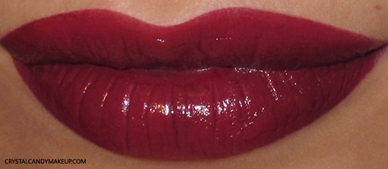Pupa I'm Lipstick Review 308 Burgundy Swatch