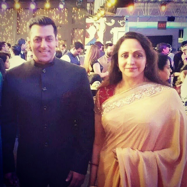 the smile says it all! @beingsalmankhan with his childhood love hemaji ❤