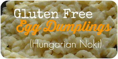 gluten free egg dumplings Favorite Family Recipes