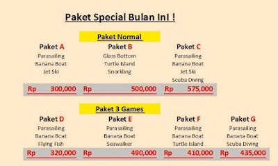 Harga Paketan Watersport murah di Bali Include Makan