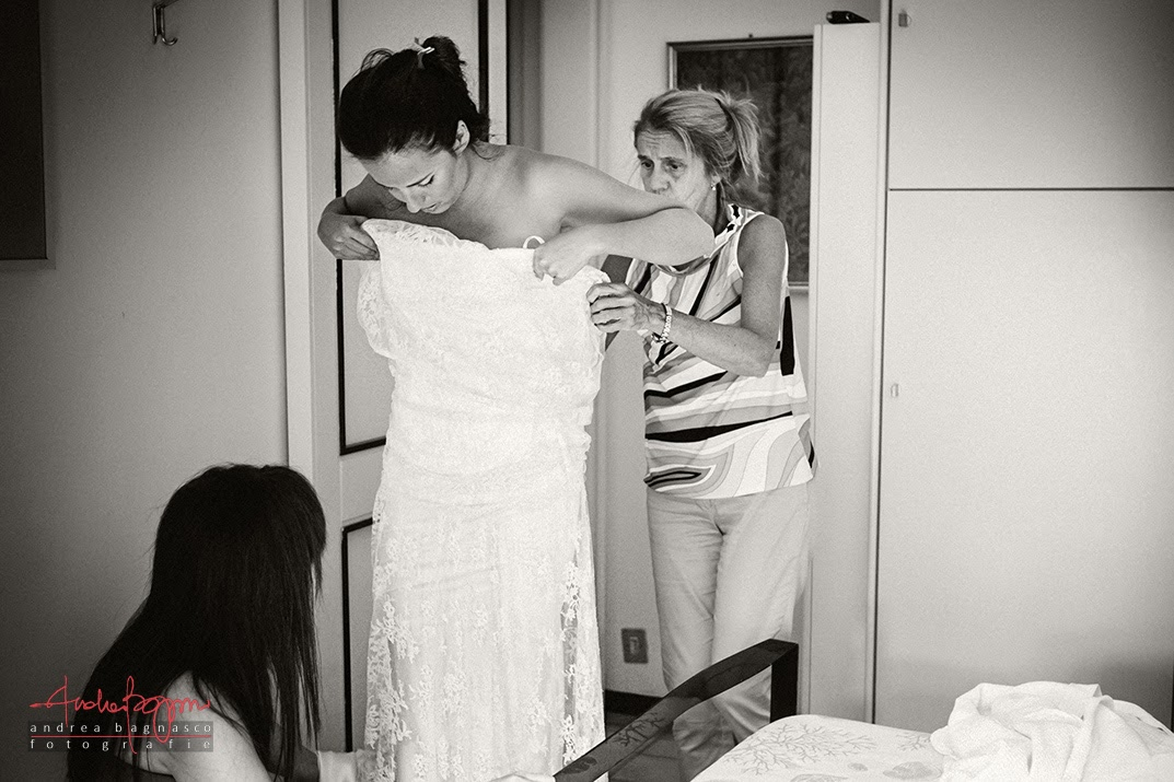 bride getting ready santa margherita wedding