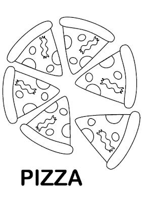 Gambar Mewarnai Pizza - 5