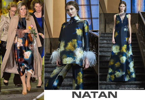 Queen Maxima wore a Natan dress from Fall Winter 2017 collection