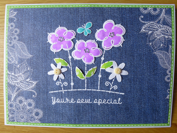 You're sew special Card using Woodware Stamps