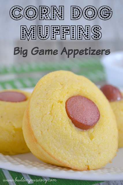 Corn Dog Muffins, game day snacks, corn dog recipes, hot dog appetizers, game day appetizers, mini cornbread corn dogs, cornbread recipe, mini corn dog muffins