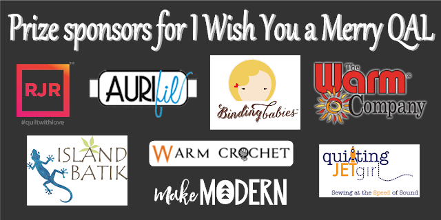 Grand prize sponsors for I Wish You a Merry QAL