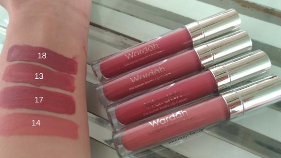 [SWATCH & REVIEW] Wardah Exclusive Matte Lip Cream (12