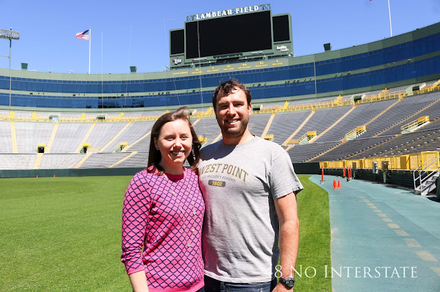 48 No Interstate back roads cross country coast-to-coast road trip Lambeau Field Green Bay Packers, Wisconsin